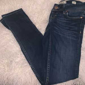 Distressed dark denim skinny jeans 25 BKE Stella